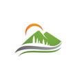 mountains logo template icon vector image vector image
