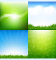 nature set posters vector image vector image