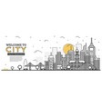 outline city skyline panorama urban landscape vector image