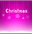 pink winter christmas background snowflake vector image vector image