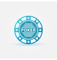 Poker chip blue icon vector image vector image