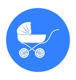 Pram icon in black style isolated on white vector image