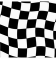 racing background with checkered flag vector image