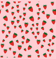 raspberry seamless pattern fresh berry red ripe vector image vector image