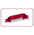 red ribbon banner satin glossy bow blank design vector image