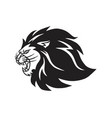 roaring lion logo mascot vector image