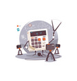 robot explaining mathematical examples vector image vector image