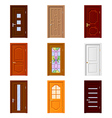 Room doors icons set vector image vector image