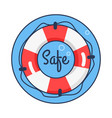 safe lifebuoy rounded icon vector image