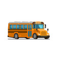 school bus flat style vector image