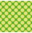 Seamless pattern green polka dots background vector image vector image