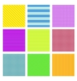 Set of 9 geometrical seamless patterns vector image