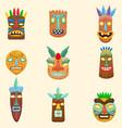 set of african zulu mexican indian inca or vector image vector image