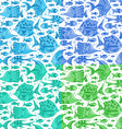 set of seamless fish patterns vector image