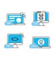 set webside code programmer technology vector image