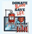 sketch for blood donation vector image