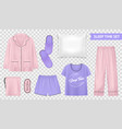 sleep time transparent set vector image vector image