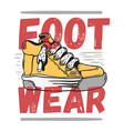 sneaker footwear poster label sign design artistic vector image