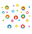 social networks working vector image vector image