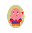 surprised speechless funny avatar little person vector image vector image