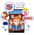 tablet video call about lockdown and corona virus vector image