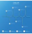 Timeline Health And Medical Infographic Design vector image vector image