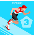 Triathlon 2016 Summer Games 3D Isometric vector image vector image