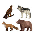 wild animals colorful drawing vector image vector image