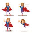woman superhero set vector image vector image