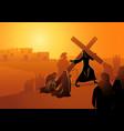 women jerusalem mourn for jesus vector image vector image