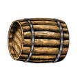 wooden whiskey barrel or wine vintage strong vector image vector image