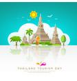 thailand tourist landmarks background vector image