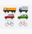 transport icon set vector image