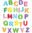 3d colorful alphabet vector image vector image