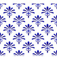 abstract floral pattern blue and white vector image vector image