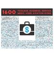 Accounting Icon with Large Pictogram Collection vector image vector image