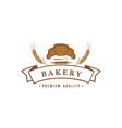bakery and dessert logo sign template emblem vector image vector image