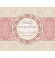 Baroque wedding invitation pink and beige vector image vector image