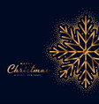 beautiful merry christmas festival golden card vector image