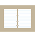 blank papers vector image vector image