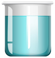 Blue liquid in glass beaker vector image vector image