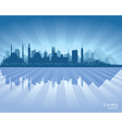 Cairo Egypt city skyline silhouette vector image vector image