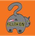 cat butt happy halloween vector image vector image