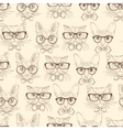 Cat hipsters seamless pattern vector image