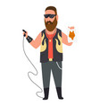 character tattoo master profession men worker vector image