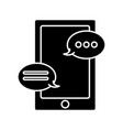 chatting on smartphone vector image