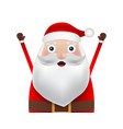 christmas santa claus close up on a white vector image vector image