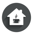 Coffee shop icon Hot coffee cup sign vector image vector image