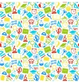colorful seamless pattern school subjects vector image vector image