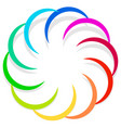 colorful spirally design element abstract vector image vector image